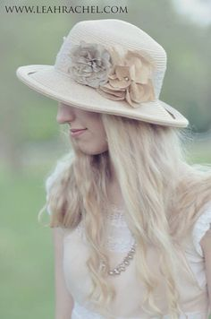 Sun Hat with Silk Flowers and Lace Trim Ready by RubyandCordelias, $110.00
