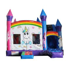 Unicorn inflatable bouncers wholesale cheap, custom unique unicorn theme combo unit for children. Bouncy House, Bouncy Castle, Peppa Pig House, Disney Princess Room, Unicorn Inflatable, Ukulele Design, American Baby Doll, Construction For Kids, Unicorn Rooms