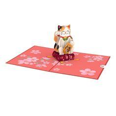 Anime Cat, Maneki Neko, Pop Up, Note Cards, Cats, Envelope, Touch, Inspiration, Products