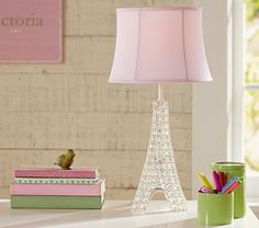 Glowing Crystal Eiffel Tower Lamp | Pottery Barn Kids - paris - interiors - baby girls - nursery