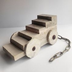 Sharon Pazner שרון פזנר   Mobile Staircase   concrete and mixed media  26x14x12 cm