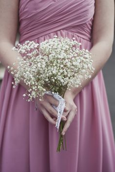 Gypsophola for the bridesmaids