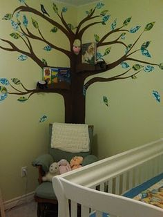 Totally want to do this then add a corner bookshelf up the tree trunk