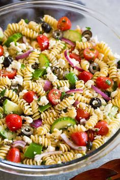 Easy Greek Pasta Salad Recipe With Feta.Greek Pasta Salad {with Greek Yogurt}. Roasted Eggplant Tomato Orzo Pasta Cookie And Kate. Simple Classic Recipes With A Fresh Unique Touch Food . Easy Pasta Salad Recipe, Easy Salad Recipes, Simple Pasta Salad, Pasta Salad Recipes Cold, Rotini Pasta Recipes, Pasta Salad Classic, Recipes With Feta, Tri Color Pasta Salad, Delicious Recipes