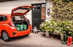 Just off to the shops in the Honda Jazz