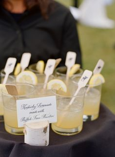 Kentucky Bourbon and lemonade provided by Bistro Catering at romantic, rustic Jackson Hole wedding. Photography: Carrie Patterson Photography - carriepattersonphotography.com  Read More: http://www.stylemepretty.com/2015/05/21/rustic-romantic-jackson-hole-ranch-wedding/