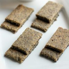 Paleo Crackers. Gluten free herb crackers, perfect for dips and appetizers.