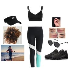 Fashion set Run created via @urstyle https://urstylecdn.blob.core.windows.net/styles/1572086 08.05.2018 - Nike Performance INDY BREATHE BRA - Sports bra £32 - Nike Performance POWER CROP TIPOLY - Leggings Colour: black/igloo/light menta £37 - Women's Running Shoe Nike Air VaporMax £150 - JB Munich Sunglasses £147 - Nike Sportswear VISOR - Cap Colour: black/white £17
