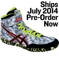 Men's ASICS Cael V4.0 Wrestling Shoe - White/Navy 11 $84.99 | Keep ...