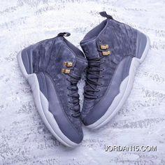 9f26d016463 Air Jordan 12 Retro Dark Grey 130690-005 AJ12 Mens Basketball Shoes Dark  Grey
