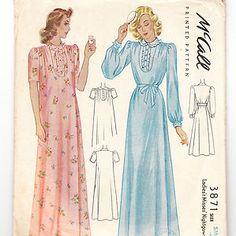 1940s vintage sewing pattern from Vintage Visage