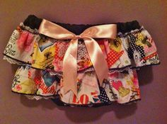 Ruffled Bloomer or Diaper Cover  Black with by HandmadeByLoloZ, $15.00