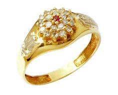 Anel de formatura comércio exterior em ouro 18k 750 com 21 zirconia branca de 1 ponto cada e 1 semi preciosa central. Peso: 4.0 gramas