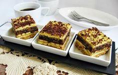 Este pentru prima data cand fac aceasta prajitura si pot spune ca va fi una dintre favoritele casei, asa mult le-a placut celor trei baieti ai mei ca nici n-au avut rabdare s-o lase la rece suficient. M-am inspirat pentru aceasta reteta de la […] Romanian Desserts, Romanian Food, Romanian Recipes, Cooking Cake, Cooking Recipes, Sweets Recipes, Cake Recipes, Pastry Cake, Food Cakes