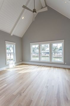 Love the floor!!! Light French Gray by Sherwin Williams.