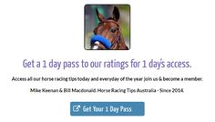 Today's Horse Racing Information:  To view all of the free ratings with the will be posted shortly comment simply visit the free ratings links at the top of this email and you will be able to access them when they are available.  Thursdays October 20th Free Ratings For Today:  Mackay Race Tips:  Race 1: 8, 2, 6, 5 Race 2 onwards will be posted here shortly...   Hawkesbury Race Tips:  Race 1: 2, 1, 3, 5 Race 2 onwards will be posted here shortly...