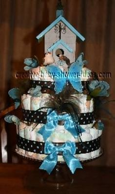 Adorable Baby Diaper Cake Photos - Make Your Own With Our Easy ...