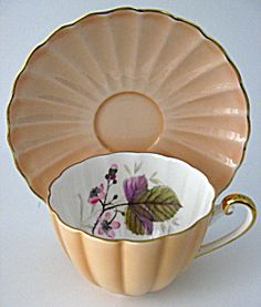 Tea...Shelley...Bramble-peach...teaup and saucer