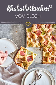 Simple rhubarb cake with pudding from the tray - Bake your sheet cake with pudding & rhubarb - Oreo Dessert, Pudding Desserts, Pudding Cake, Desserts For A Crowd, Food For A Crowd, Easy Cake Recipes, Dessert Recipes, Easy Tiramisu Recipe, Rhubarb Cake