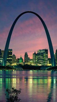 Saint Louis,Night, Missouri, USA