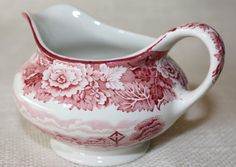 Enoch Woods English Scenery Creamer Red by PeriodElegance on Etsy, $28.00