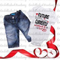Valentine's Day/'Future Ladies Man...' with Hearts HTV Decal/Baby Onesie/Boy Valentine's Shirt/HTV/Valentine's DIY Shirt by EmbellisheDKreationz on Etsy