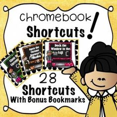 These Chromebook Shortcut Cards will be your new best friend! Help your students get to know their Chromebook device better. Copy, cut, and laminate these cards for a quick reference tip or learning tool. Try punching a hole and adding a ring to make sets of cards easily accessible. #chromebook #chromebookshortcuts