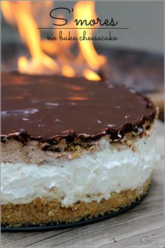 S'mores No-Bake Cheesecake  |  A Dash of Sanity