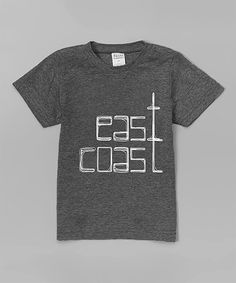 This Charcoal 'East Coast' Tee - Toddler & Kids by Urban Smalls is perfect! #zulilyfinds