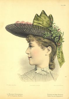 Victorian Hats, Wedding Hats, Hair Pictures, Handmade Wedding, Fashion Plates, Fashion History, Vintage Prints, Hats For Women, Dame