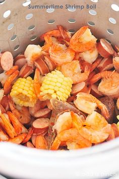 Summertime in the South always means it's time for a Shrimp Boil! Perfect for outdoor entertaining or even when camping, this recipe is written based on how much per person you'll need for a successful shrimp boil.