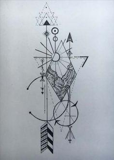 Ideas tattoo geometric lines arm tatoo Compass Tattoo, Arm Tattoo, Book Tattoo, Tattoo Sun, Live Tattoo, Line Art Tattoos, Arrow Tattoos, Feather Tattoos, Hand Tattoos