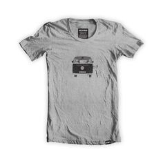 This organic grey heather t-shirt has been designed and printed in the UK and features the van life and bicycle graphic. Inspired by the outdoors and exploring your backyard, this design has been screen printed by hand using white and black inks. Made using 100% organic cotton and featuring the midd