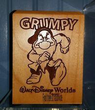 NEW Disney World Arribas Bros GRUMPY Wooden Pen Pencil Holder! Desk Office Set