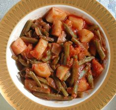 Fassolakia Lathera - Green Beans in Tomato Sauce pic2