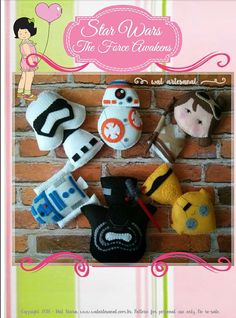 Hello, choose your side: Light or Dark ♥ Welcome to Wal Artesanal Shop You are purchasing a PATTERN ONLY (PDF) for a STAR WARS pocket version.