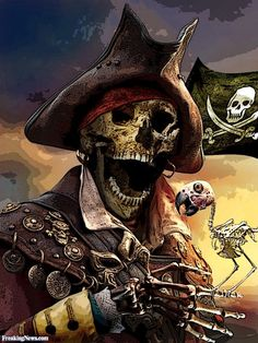 The Rogues Gallery We will be adding pictures of pirates from all around the world as they submit them on the Pirates Parley which is accessible via the Pirate Brethren website. Pirate Skeleton, Pirate Art, Pirate Skull, Pirate Life, Pirate Ships, Pirate Woman, The Pirates, Pirates Cove, Skull Art
