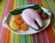 feutrine saumon et légumes