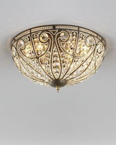 Elizabethan Ceiling Light - Horchow I own this.  It's in my upstairs hall.  It's stunning! #Horchow