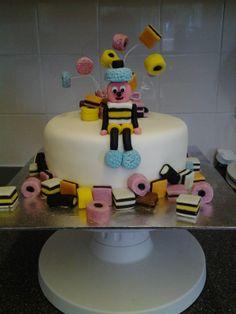 Wonka Liquorice Allsort Cake