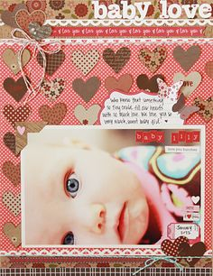 Super adorable, bright and fun layout by Becky Williams using Hearty Barley Soup (via Jillibean Soup blog).