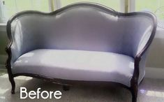 Before &#38 After:  An Old Settee Turned Into A Family Heirloom — Frou-FruGal