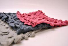 3 Cowls Felted #wool #shibori #headbands #turbans  $110.00