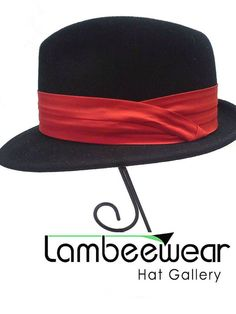 Red Interachangeable Hat Band  Red Hat Band  by LambeewearCustom