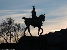 Emperor Kaiser Wilhelm II Statue in Cologne, Germany. Landscape Photography, City Art, Wall Art, Horse Monument, Sunset.