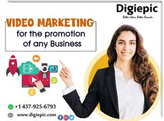Digiepic provides Video Marketing Services Canada which makes animated and service based videos for your business promotions. We help you with cost effective video campaign services in Toronto. Email Marketing, Content Marketing, Digital Marketing, How To Make Animations, Cool Animations, Service Canada, Business Video, See Videos, Fun To Be One