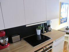 Kitchen #white #kitchen #wooden #chalkboard #kvik #pengerkatu