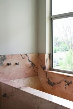 Barbara Bestor LA Home: Pink Marble in the Bath, Remodelista