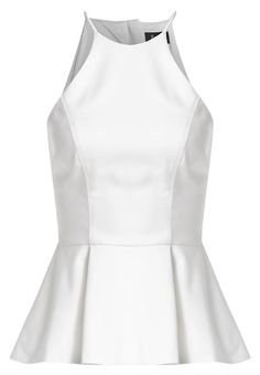 Ladies, this gorgeous peplum top is just the ticket for your evening out! Crafted in a cotton blend with a hint of stretch and featuring a high rounded neckline, thin shoe string straps, full silky lining, sleeveless styling and a peplum frill at the waist.Wear with a fitted midi and heels to finish off your look.Model wears size 8 and is 174cm tall.Fabric Content : 100% cotton