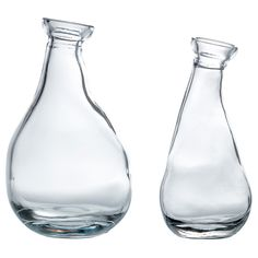 IKEA - VÅRVIND, Vase, set of 2, The unique shape makes the vases beautiful with and without flowers.